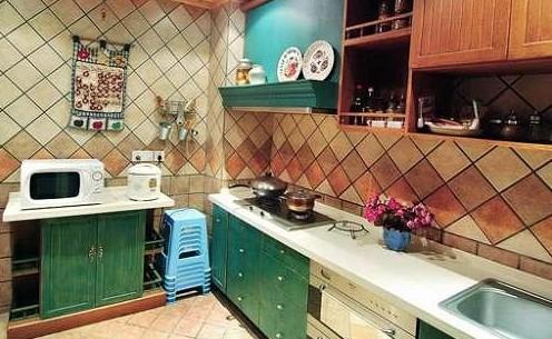 厨房               简洁大方,崇尚自然的地中海图片